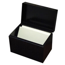 Buddy Card File Box - Hinged Cover - 6 1/2