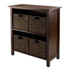 Granville 5-Pc Storage Shelf with 2 Sections and 4 Foldable Baskets