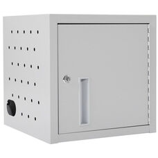 Locking Steel 8 Tablet Wall Mounted Charging Box - Gray - 19