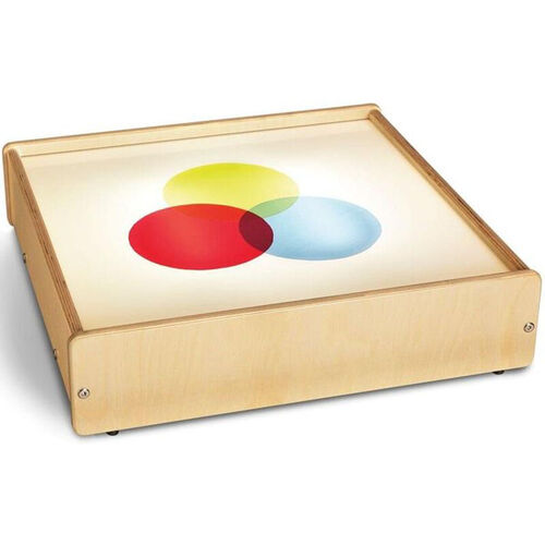 Tabletop Wooden LED Light Box with Acrylic Top - 20.2
