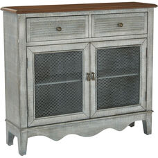 Inspired by Bassett Lambert Storage Console - Antique Atlantic Blue