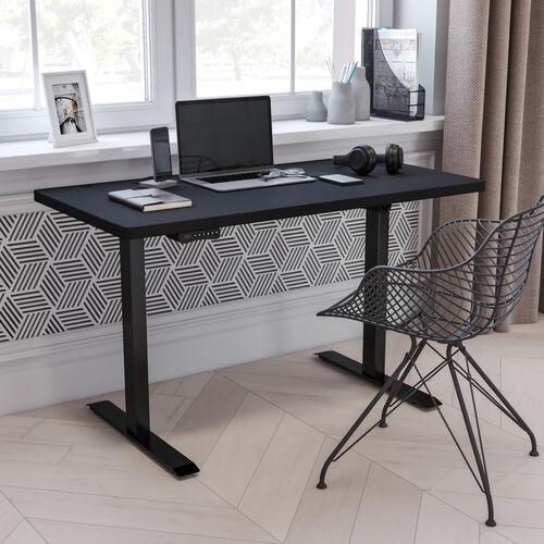 "Electric Height Adjustable Standing Desk - Table Top 48"" Wide - 24"" Deep"