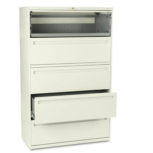 Our HON® 700 Series Five-Drawer Lateral File w/Roll-Out & Posting Shelves - 42w - Putty is on sale now.
