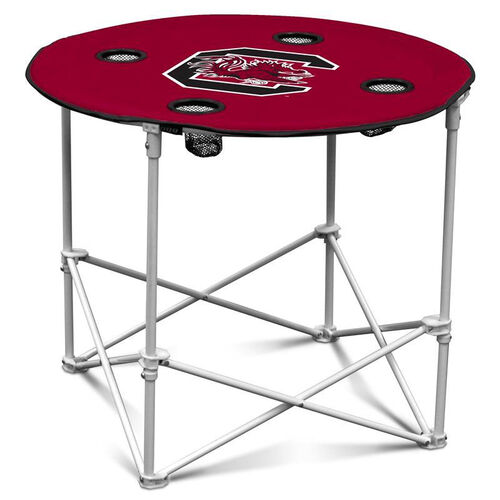 University of South Carolina Team Logo Round Folding Table