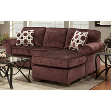 Worcester Transitional Style Polyester Chaise Sofa - Prism Elderberry