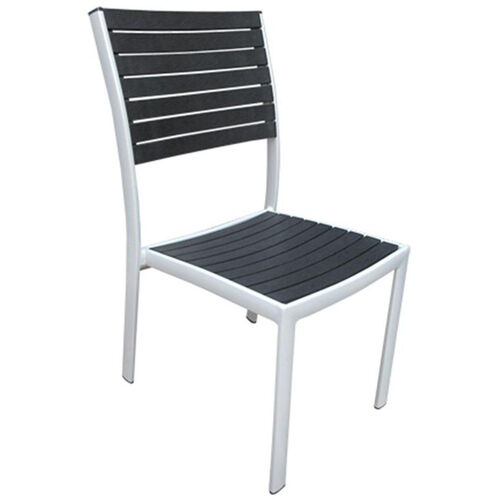 Our Mallory Outdoor Tiki Series Stackable Aluminum Armless Chair - Black is on sale now.
