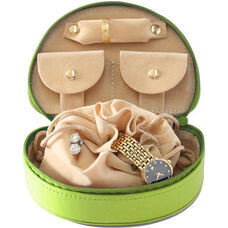 Mini Jewelry Case - Top Grain Nappa Leather - Key Lime Green