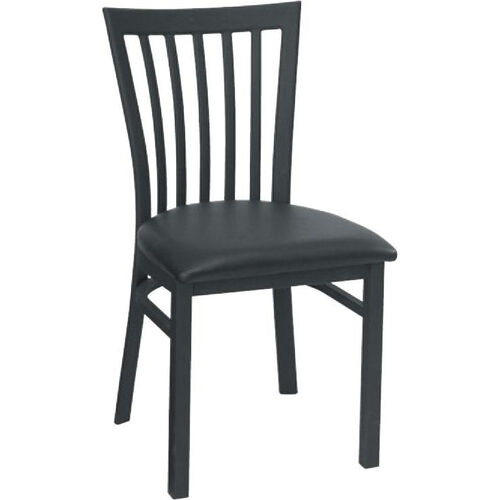 Our Vertical Slat Back Metal Dining Chair - Grade 4 Vinyl is on sale now.