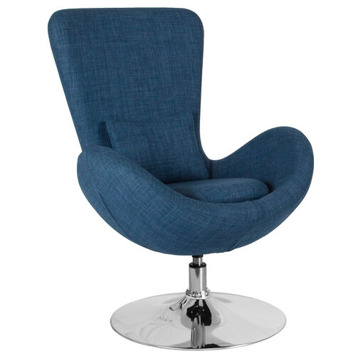 Our Egg Series Blue Fabric Side Reception Chair is on sale now.