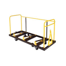High Capacity Steel Banquet Table Truck with Steel Casters - 33