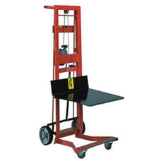 Four-Wheeled Winch Model Steel Frame Pedal Lift With Platform Lifter