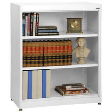 Elite Series 36'' W x 18'' D x 42'' H Welded Radius Edge Stationary Bookcase - White