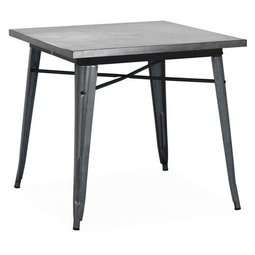 Our Dreux Dark Gunmetal Steel Frame Square Top Dining Table - 30