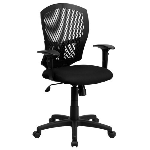 Our Mid-Back Designer Back Swivel Task Office Chair with Fabric Seat and Adjustable Arms is on sale now.