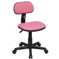 OSP Designs Armless Computer Task Chair with Seat Height Adjustment and Casters - Pink