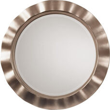 OSP Designs Cosmos Beveled Wall Mirror with Round Wavy Frame - Silver