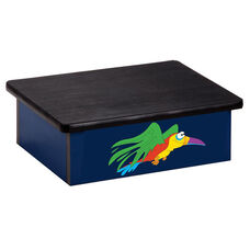 Blue Rainforest Parrot Pediatric Step Stool