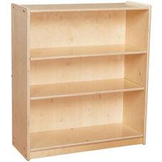 Contender Baltic Birch 3 Shelf Wooden Bookcase - Unassembled - 30