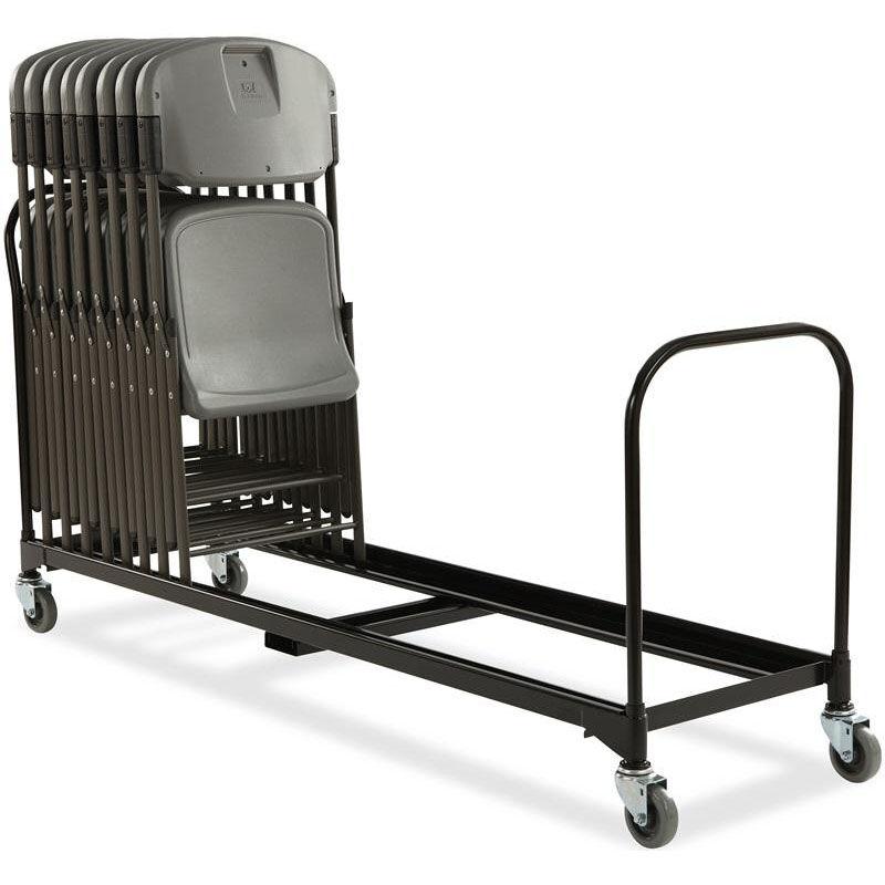 Captivating Rough U0027N Ready 34 Chair Capacity Folding Chair Cart   Black