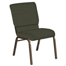 18.5''W Church Chair in Mirage Fern Fabric - Gold Vein Frame