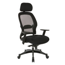 Space Breathable Mesh Back and Mesh Seat Managers Chair with Headrest