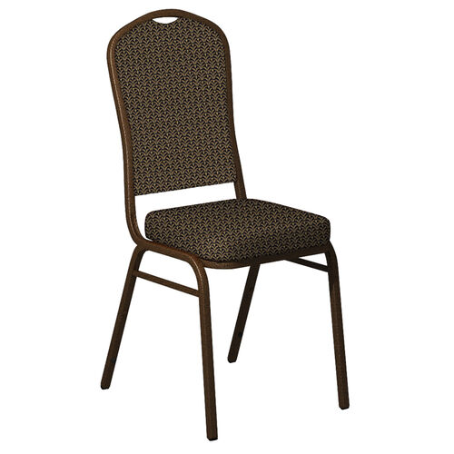 Our Embroidered Crown Back Banquet Chair in Mission Fabric - Gold Vein Frame is on sale now.