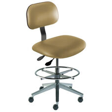 Quick Ship Bridgeport Series Chair with Adjustable Task Controls and Cast Aluminum Base - Medium Seat Height