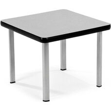 End Table with Four Silver Legs - Gray