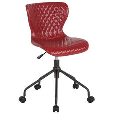 Somerset Home and Office Upholstered Task Chair in Red Vinyl