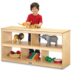 Two-Sided Stationary Open Toddler Shelf
