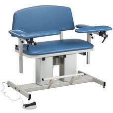 Hands Free Adjustable Power Series Bariatric Blood Drawing Chair with Padded Arms
