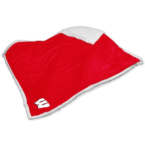 Our University of Wisconsin Team Logo Sherpa Throw is on sale now.
