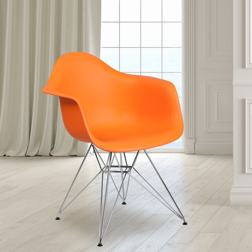 Our Alonza Series Orange Plastic Chair with Chrome Base is on sale now.