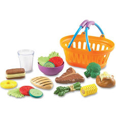 Learning Resources New Sprouts - Play Dinner Basket - 19 Pieces