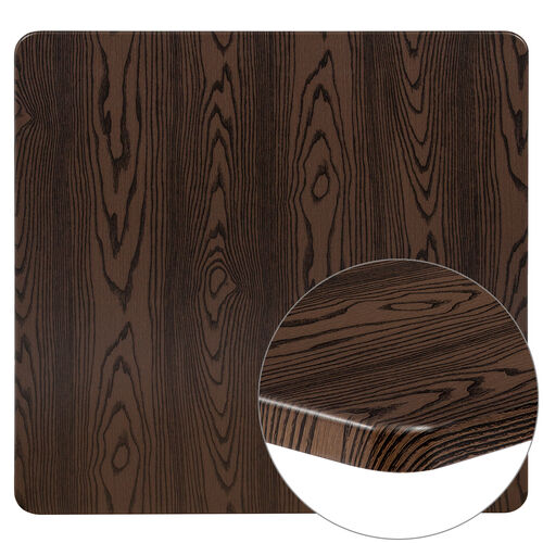 "Our 42"" Square Rustic Wood Laminate Table Top is on sale now."