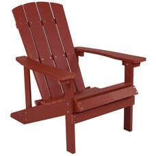Charlestown All-Weather Adirondack Chair in Red Faux Wood