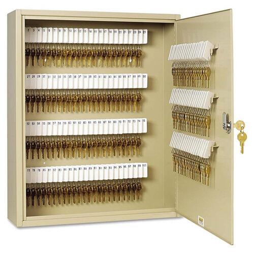 Our SteelMaster® Uni-Tag Key Cabinet - 200-Key - Steel - Sand - 16 1/2 x 4 7/8 x 20 1/8 is on sale now.