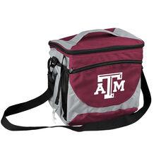 Texas A&M University Team Logo 24 Can Cooler