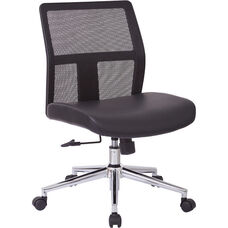 OSP Furniture Armless Mid Back Mesh Office Chair