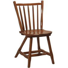 1770 Wood Side Chair with Rustic Styling