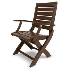 POLYWOOD® Signature Folding Chair - Mahogany