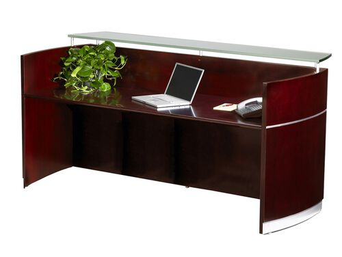 Our Napoli Reception Station with No Pedestals - Sierra Cherry on Cherry Veneer is on sale now.
