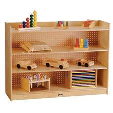 Mobile Two Shelf Bookcase with Lip