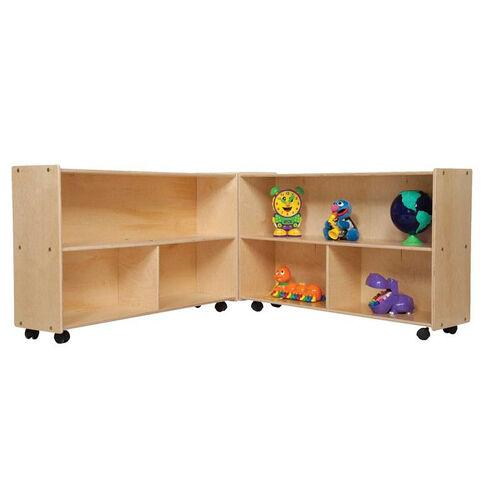 Our Mobile Six Shelf Folding Versatile Baltic Birch Plywood Storage Unit with Tuff-Gloss UV Finish - 93.5