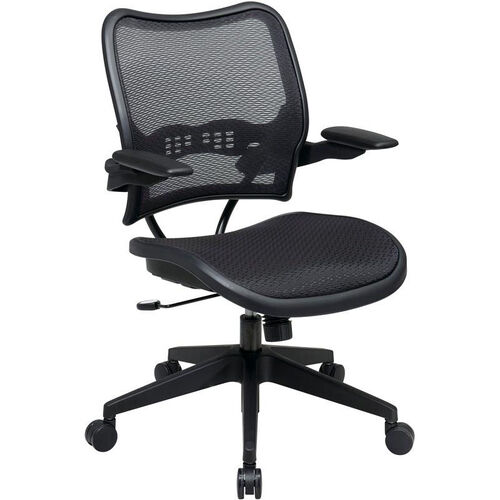 Our Space Deluxe Air Grid Seat and Back Task Chair with 2-to-1 Synchro Tilt and Cantilever Arms - Black is on sale now.