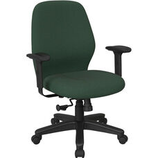 Work Smart 2-to-1 Synchro Tilt Managers Chair with 2-Way Adjustable Soft Padded Arms