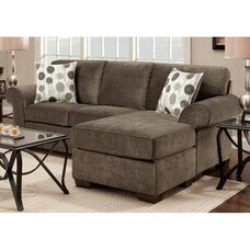 Worcester Transitional Style Polyester Chaise Sofa - Elizabeth Ash