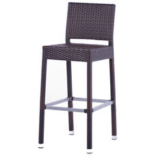 Gama Outdoor Weave Series Barstool with Back - Espresso