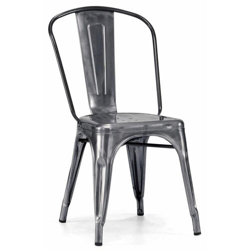 Our Dreux Steel Stackable Dark Gunmetal Side Chair - Set of 4 is on sale now.