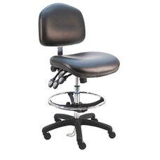 Premium HD ESD Cleanroom Class 100 - Anti Static Vinyl Chair - Nylon Base